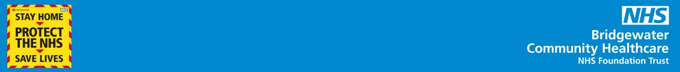 Bridgewater Community Healthcare NHS Foundation Trust website banner