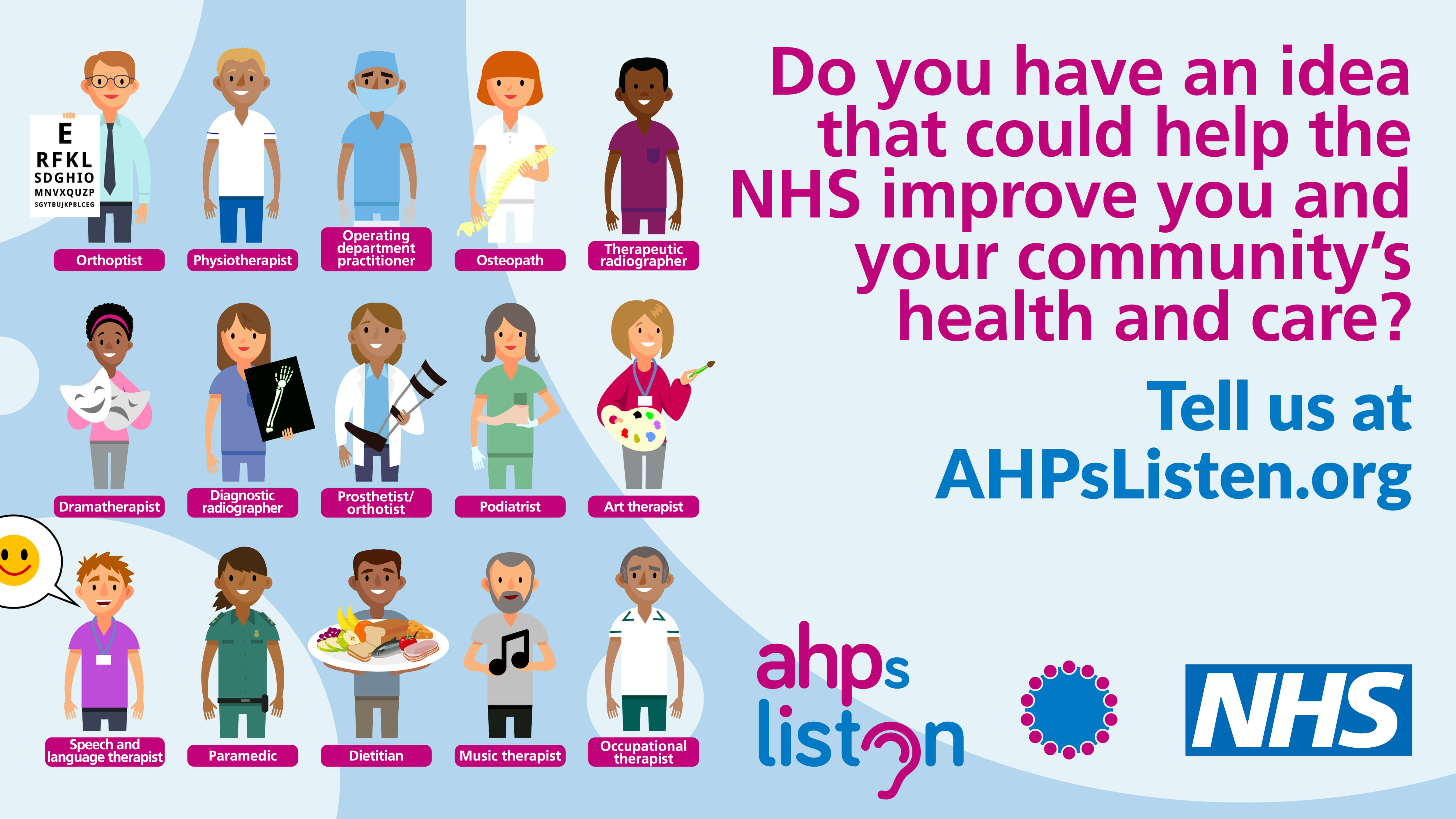 AHPs services - have your say
